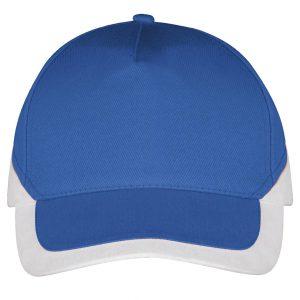 Booster cap blauw-wit