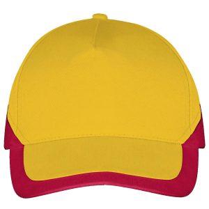 Booster cap goudgeel-rood