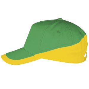 Booster cap groen-goudgeel