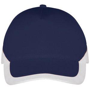 Booster cap navy-wit