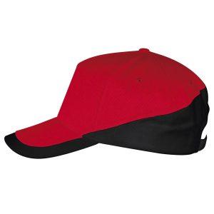 Booster cap rood-zwart