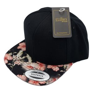 Bloemen Snapback cap rood