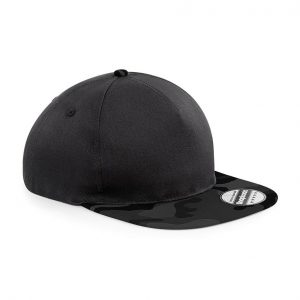 Camouflage Snapback cap zwart