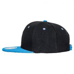 Contrast Snapback cap zwart-blauw