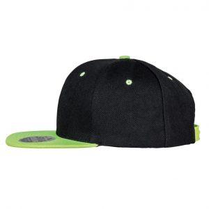 Contrast Snapback cap zwart-lime