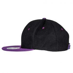Contrast Snapback cap zwart-paars