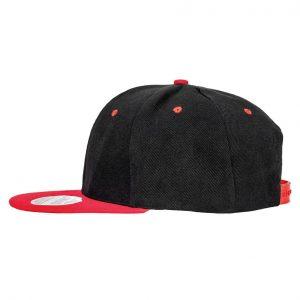 Contrast Snapback cap zwart-rood