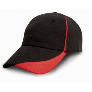 Katoenen pet zwart-rood