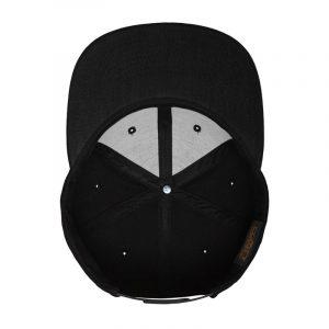 Klassieke Snapback cap zwart-zwart