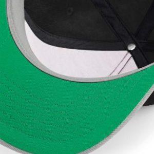Original snapback cap zwart-grijs