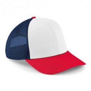 Trucker Snapback cap rood-wit-navy