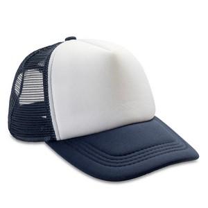 Trucker cap navy-wit
