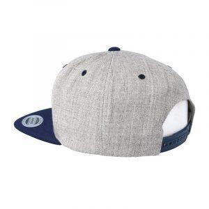 Tweekleurige klassieke Snapback cap grijs-navy