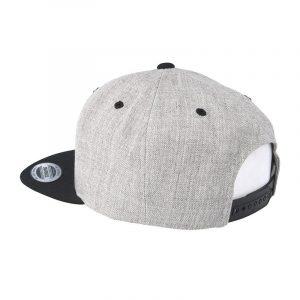 Tweekleurige klassieke Snapback cap grijs-zwart
