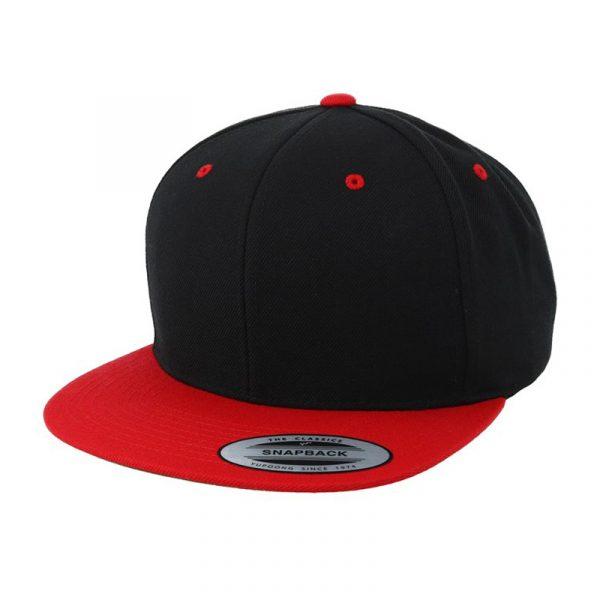 tweekleurig klassiek snapback rood zwart