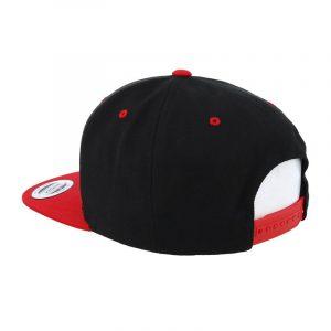 Tweekleurige klassieke Snapback cap zwart-rood