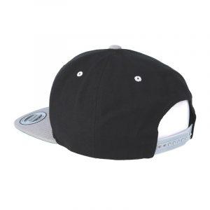 Tweekleurige klassieke Snapback cap zwart-zilver