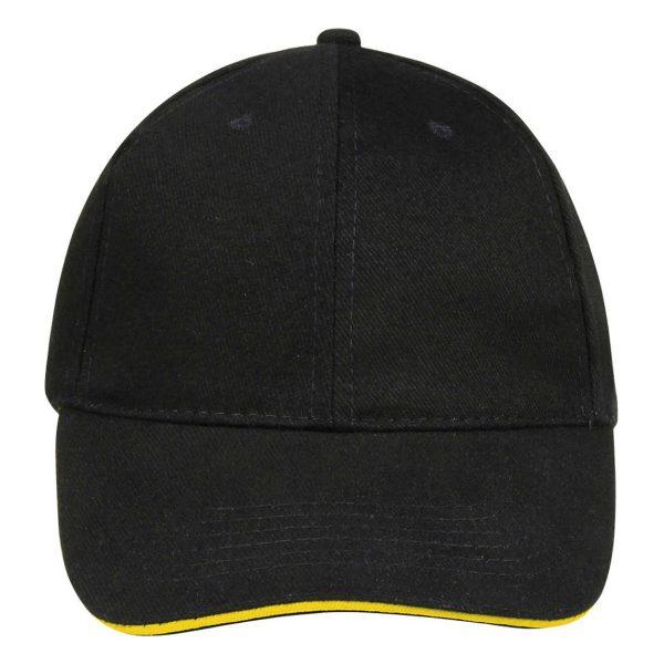 Cap black gold 6panel
