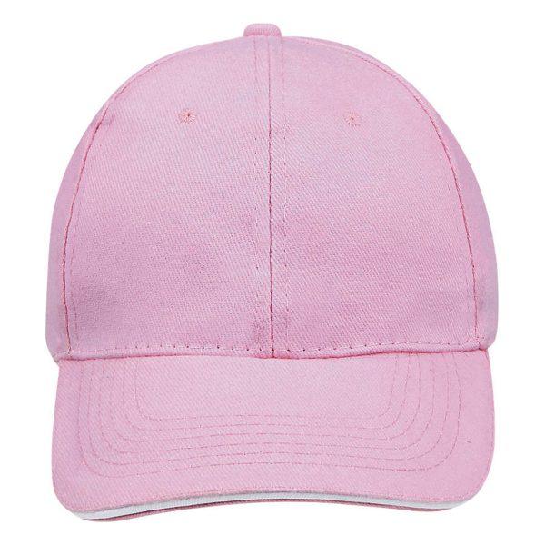 Cap pink white 6panel