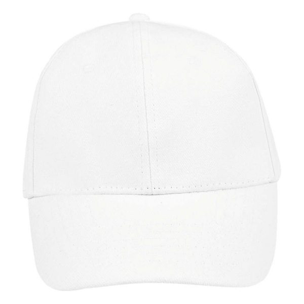 Cap white 6panel